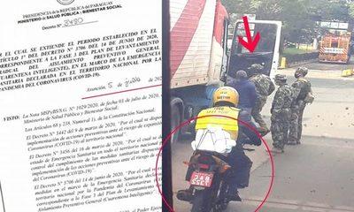 Mototaxistas operan sobre el Puente de  la Amistad bajo protección de marinos – Diario TNPRESS
