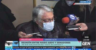 Mario Abdo pidió la reunión con los senadores, confirma Lugo