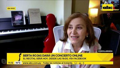 Esta noche, Berta Rojas dará un concierto online