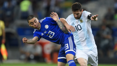 'Almirón quería cambiar camiseta con Messi, pero parece que no le quiso dar'