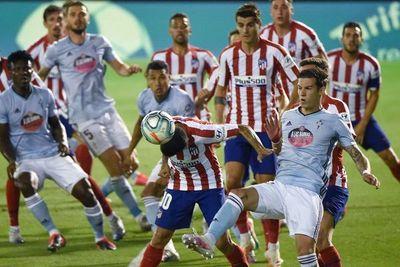 Atlético de Madrid empata con el Celta
