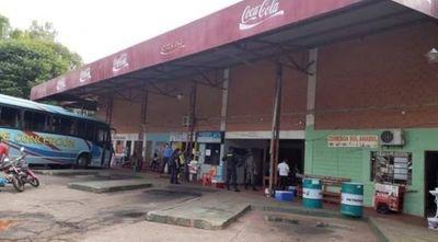 Caso positivo en Yby Ya'u obligó al cierre de la terminal local por 15 días
