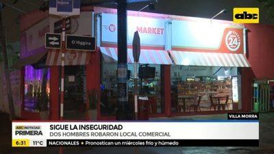 Desconocidos asaltan minimarket en Villa Morra