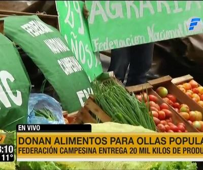 Los que menos tienen, más dan: Campesinos donan alimentos para ollas populares