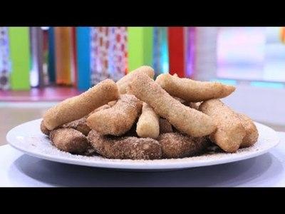 Tortitas fritas con azúcar y canela
