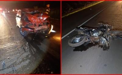 Choque deja un motociclista muerto en Santa Rita