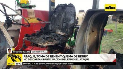 Yasy Cañy: Ataque, toma de rehén y quema de retiro