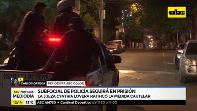 El suboficial Gustavo Florentín seguirá en prisión