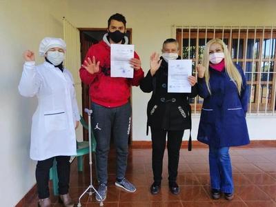 Misiones; seis roseños que retornaron de la Argentina recibieron el certificado de haber cumplido la cuarentena