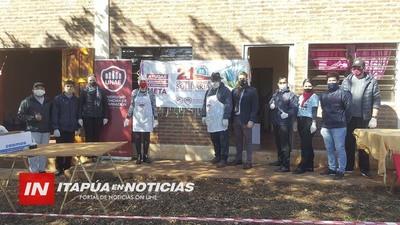 GRAN ALMUERZO SOLIDARIO PARA 600 PERSONAS EN JARDIN DEL SUR- CAMBYRETÁ