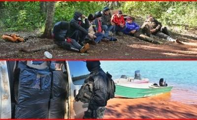 Guardabosques de Itaipu capturan a 8 contrabandistas en área protegida