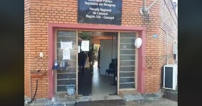 Caazapá: Derrumbe en sede de la Fiscalía deja tres heridos