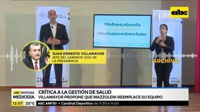 Villamayor criticó la gestión de Mazzoleni