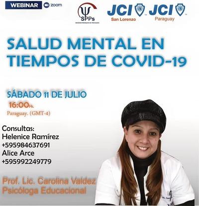 """JCI San Lorenzo organiza Webinar """"Salud Mental en Tiempos de Covid-19"""""""