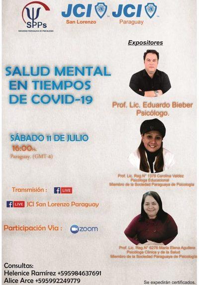 """Webinar """"Salud Mental en Tiempos de Covid-19"""" se podrá seguir vía Facebook"""