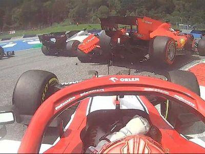 Leclerc asume la culpa tras insólito incidente con Vettel
