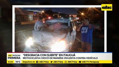 """Desgracia con suerte"" en Itauguá"