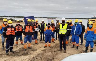 Avanzan trabajos de refulado para la Defensa Costera de Pilar
