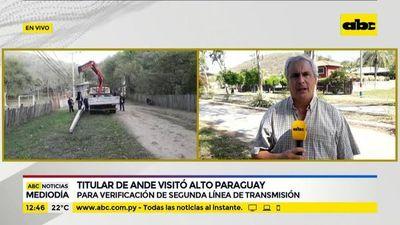 Titular de la ANDE visitó Alto Paraguay