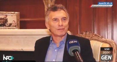 Macri dice que vino a hablar de la pandemia y del futuro