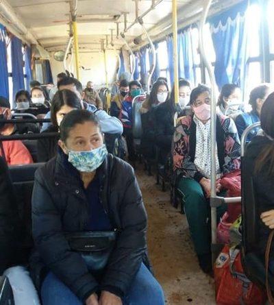 Salud Pública controla cumplimiento de  protocolo en los buses de Hernandarias – Diario TNPRESS