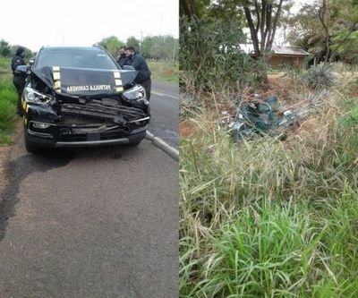 Camioneta de la Patrulla Caminera protagoniza un accidente en Yby Yaú
