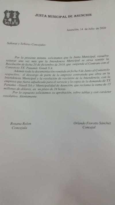 Concejales piden detalles de la rescisión de contrato con TX Panamá y demanda contra la comuna