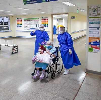 Abuelita de 94 años superó al Covid-19