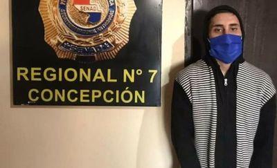SENAD detiene a un joven con antecedentes y orden de captura en Concepción