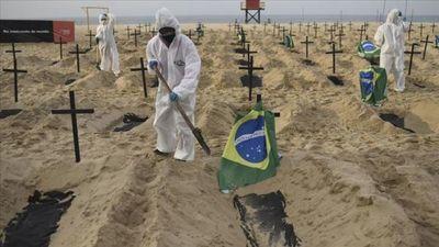 Casos de coronavirus en Brasil aumentan en 39.924 y se acercan a la marca de 2 millones