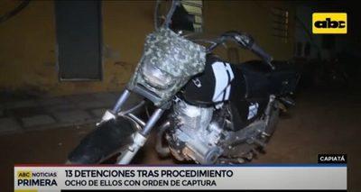 Detienen a 13 personas en control policial en el barrio Kennedy de Capiatá