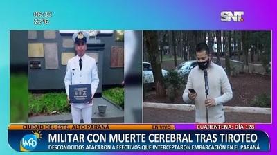 Militar herido en tiroteo se encuentra con muerte cerebral