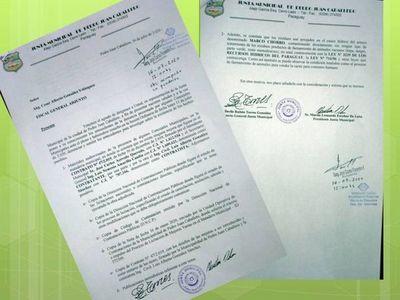 Formalizan denuncia contra el intendente José Carlos Acevedo; la fiscalía sigue con su silencio cómplice