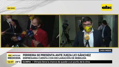 Ferreira se presenta ante la jueza Lici Sánchez