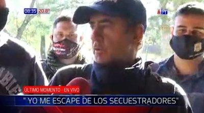 «Yo me escapé de los secuestradores»