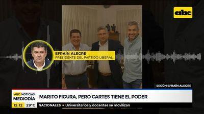 Marito figura como presidente, pero Cartes tiene el poder, según Efraín Alegre
