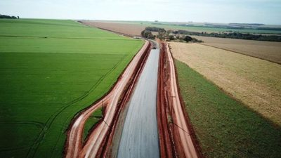 Santa Fe del Paraná cerca de completar sus primeros tramos asfaltados