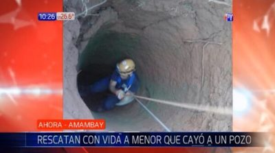 Niña de tres años cae a pozo de 15 metros de profundidad en Pedro Juan
